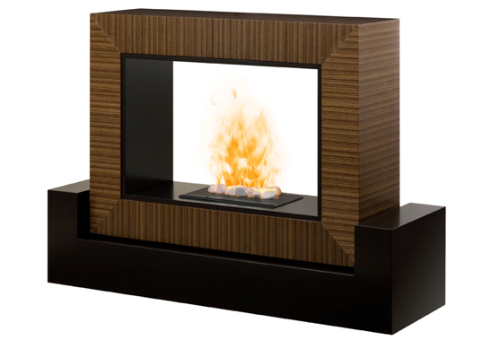 Dimplex Amsden Black and Cinnamon OptiMyst Electric Fireplace
