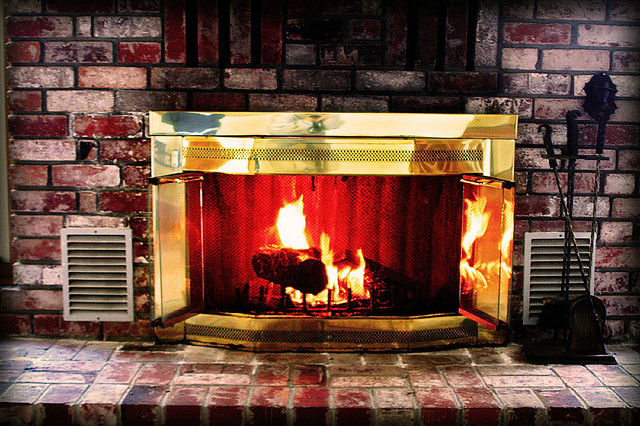 Gold Fireplace Mantel