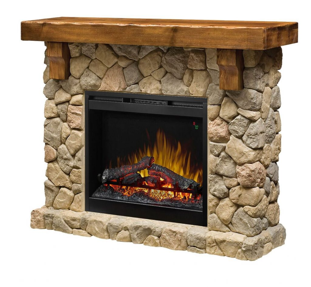 "55.6"" Dimplex Fieldstone Electric Fireplace"