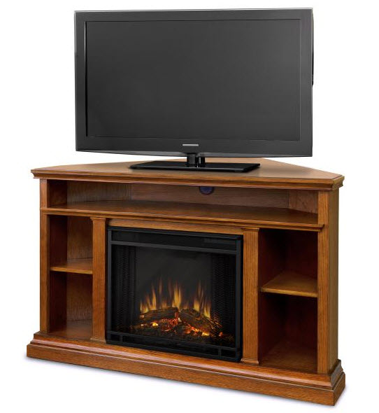 Churchill Country Rustic Corner Electric Fireplace