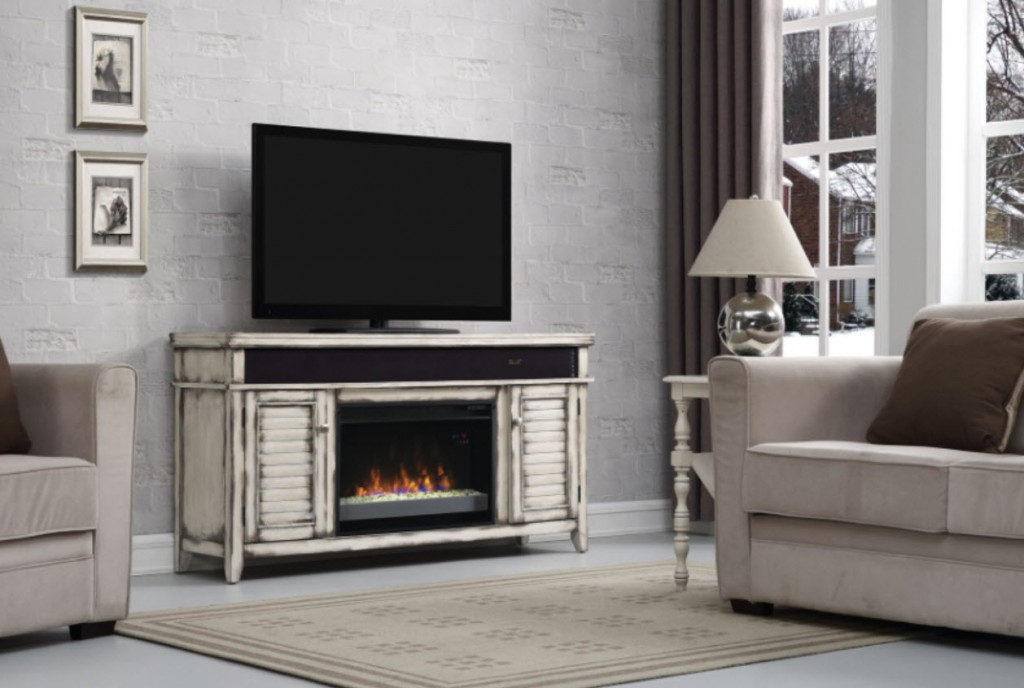 Electric Fireplace tv console with electric fireplace : Electric Fireplaces that Heat 1,000 sq ft | Free Shipping ...