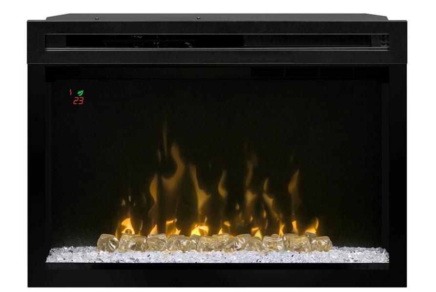 26u2033 Dimplex Curved Glass Front Multi Fire XD™ Electric Fireplace Insert U2013  PF2325CG