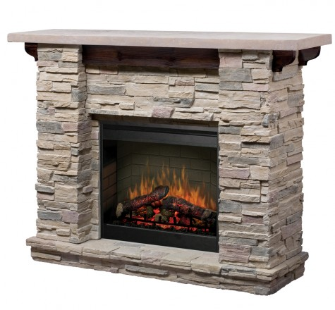 Rustic electric fireplaces i portable fireplace for Liquida meuble st romuald