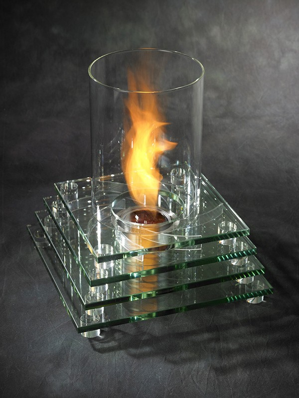 Tabletop fireplaces a modern way to enjoy age old fire for Ethanol outdoor fire pit