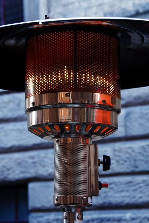 Close up of patio heater