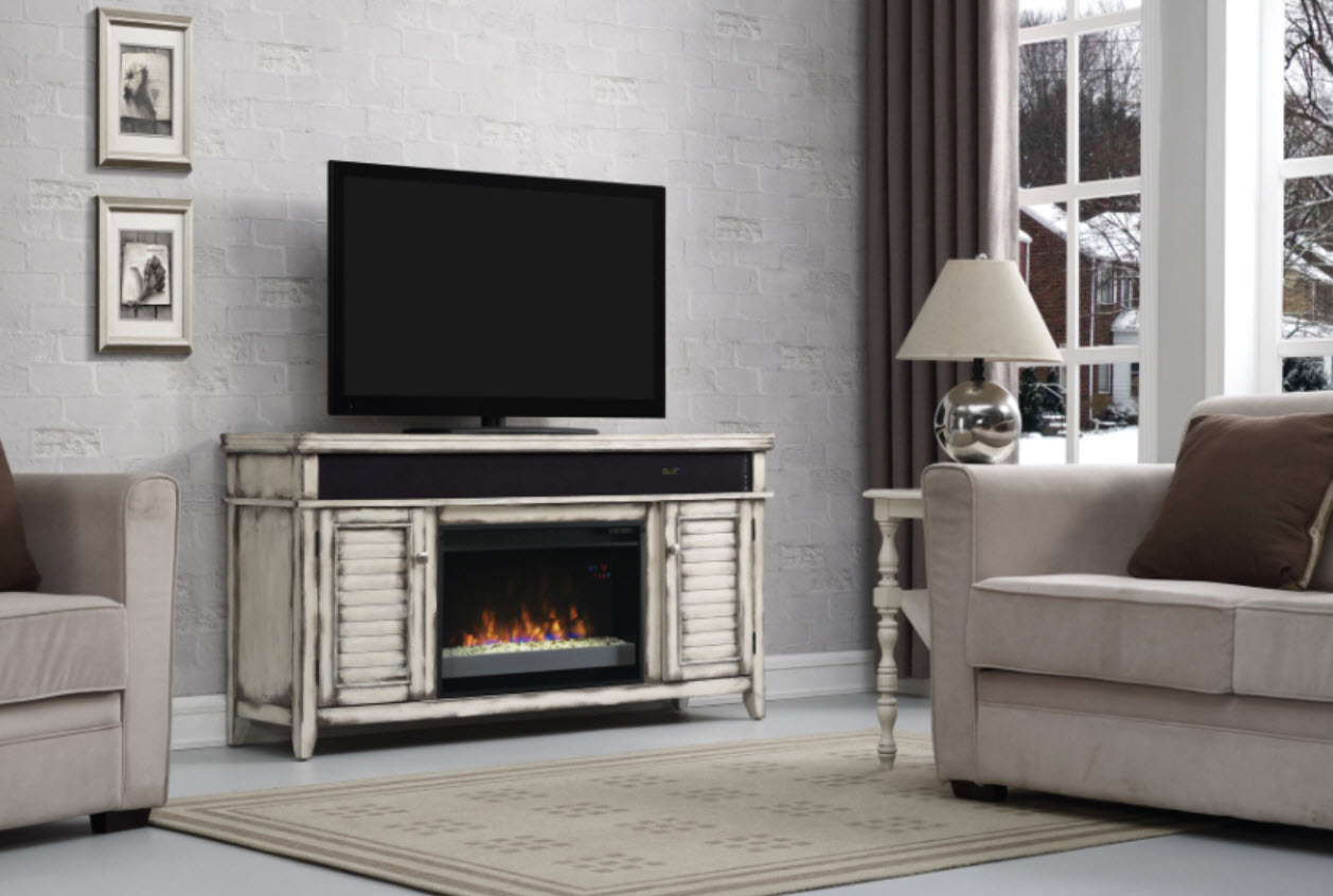 Simmons Country Media Electric Fireplace - Rustic Electric Fireplaces I Portable Fireplace