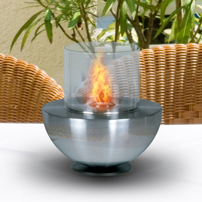 Spherical Tabletop Fireplace