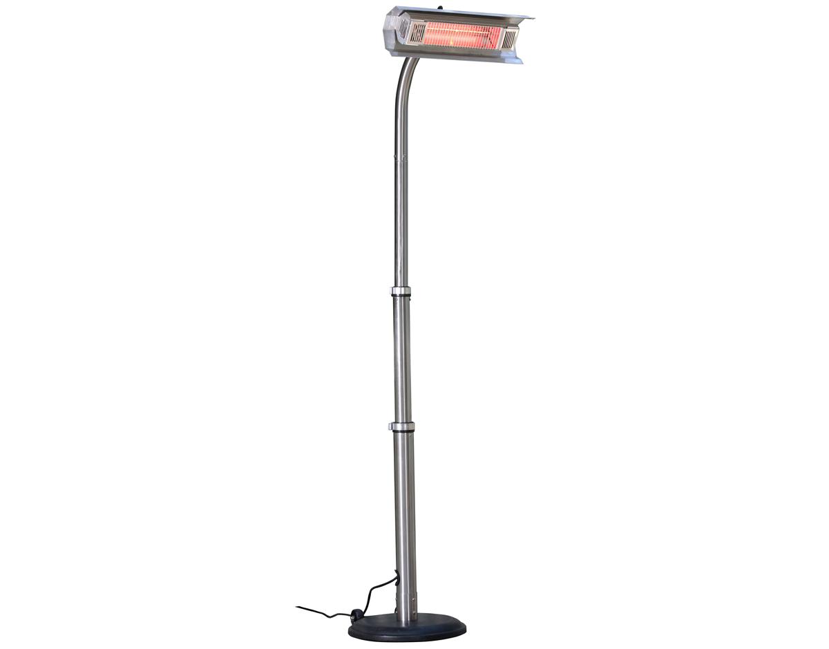 Revolving pole allows heater to move around