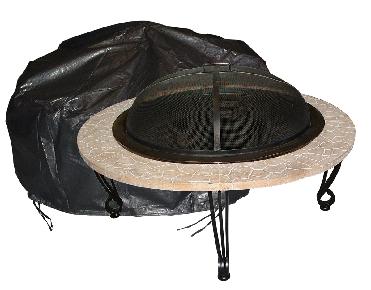 Vinyl cover with felt-lined interior (Shown With Electra Fire Pit)