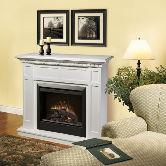 48 25 Quot Dimplex Caprice White Electric Fireplace