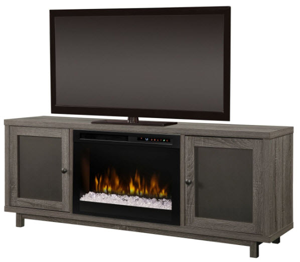 65 Dimplex Jesse Media Console Electric Fireplace With Glass Ember Bed