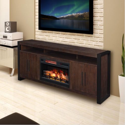"Update any room with the Costa Mesa TV stand for TVs up to 80"" and up to 155 lbs."