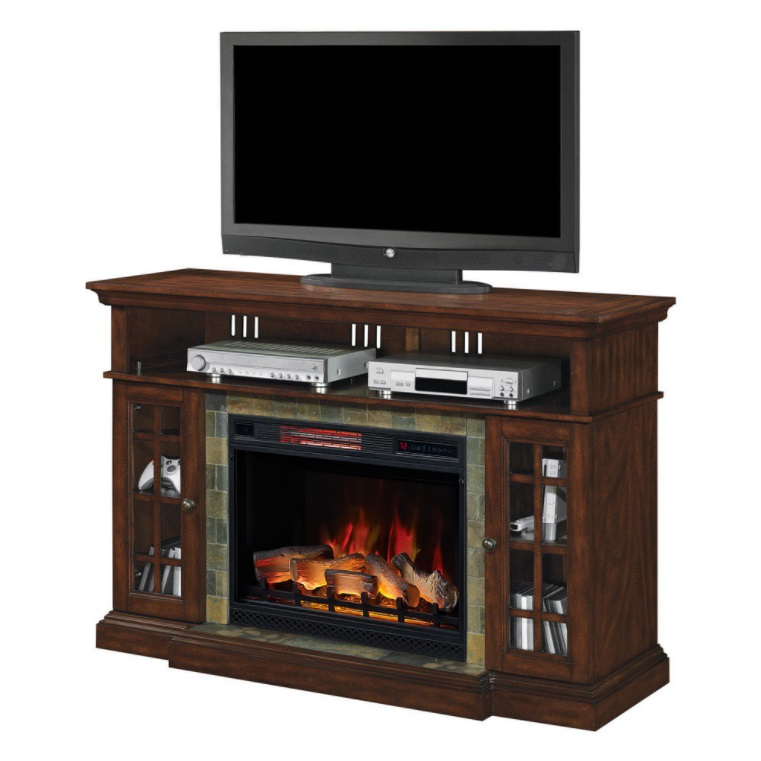 60 Quot Lakeland Roasted Cherry Infrared Electric Fireplace
