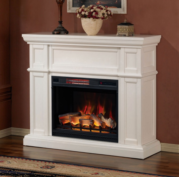The Artesian White Electric Fireplace brings classical styling into the modern age with a beautiful fireplace insert featuring realistic logs and ember bed inserts.