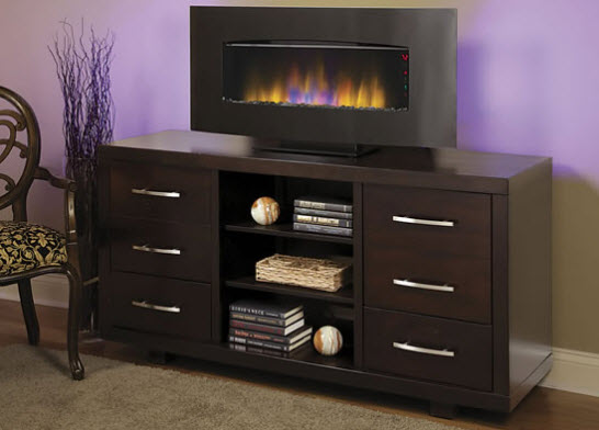 "Wall Hanging Electric Fireplace 40.4"" transcendence fire display wall-hanging electric fireplace"