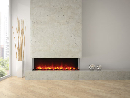 60 Quot Amantii 3 Sided Glass Electric Fireplace