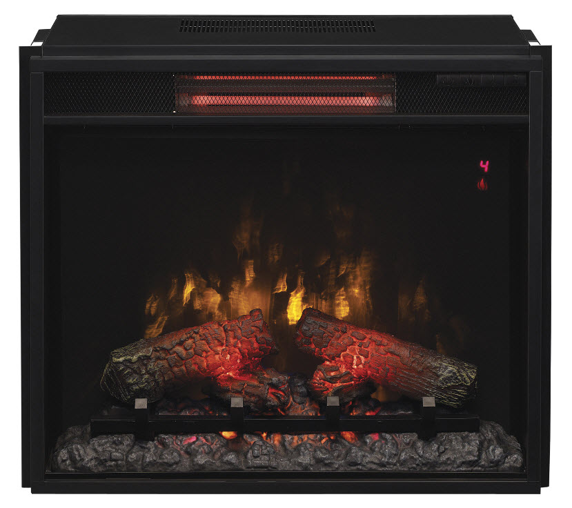 "The ClassicFlame 23"" Fixed Glass Spectrafire Infrared Quartz Electric Fireplace Insert is the best solution that offers incomparable warmth and a comfortable atmosphere in your home."