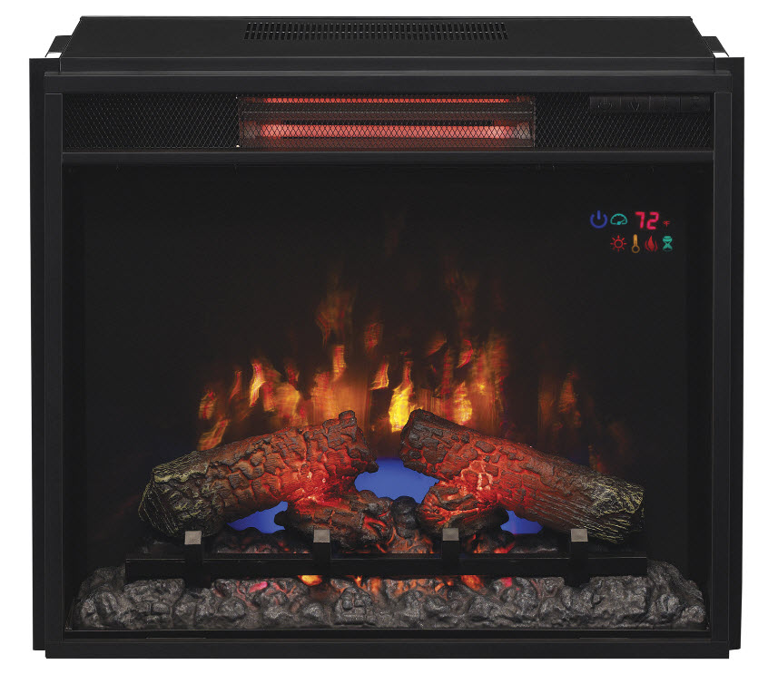 Fireplace Design infrared fireplaces : 23.74'' Classic Flame Fixed Glass Spectrafire Infrared Quartz ...