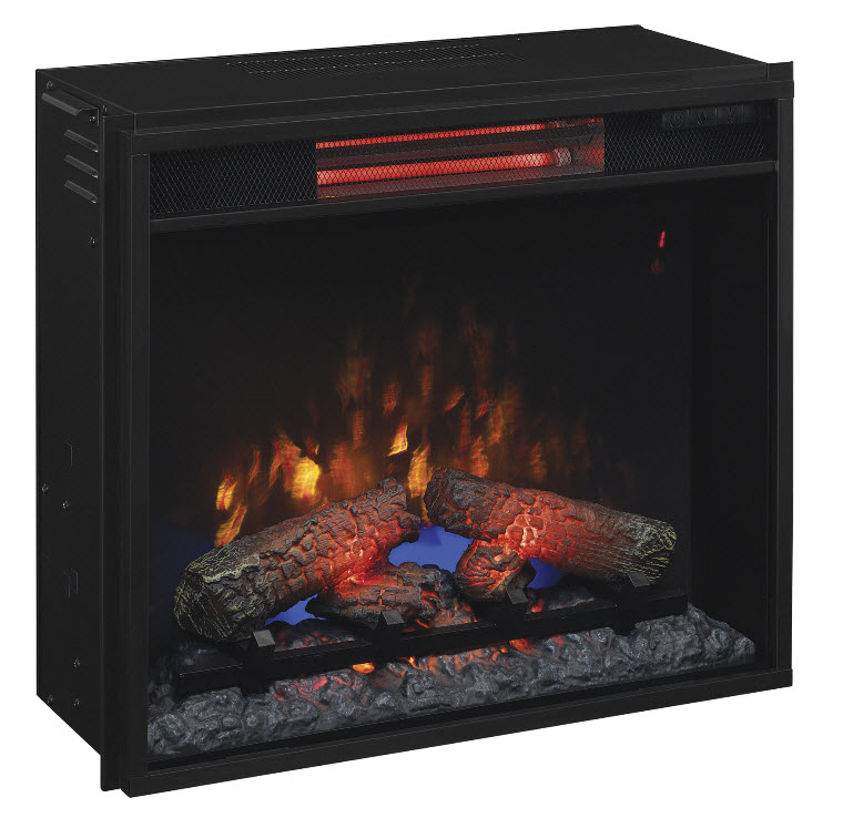 Classic Flame Fixed Glass Spectrafire Infrared Quartz Electric Fireplace Insert 23ii310gra
