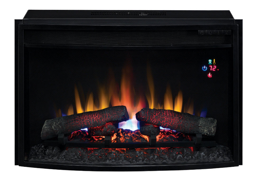 26 Classicflame Spectrafire Curved Electric Fireplace Insert 25ef023gra Portablefireplace