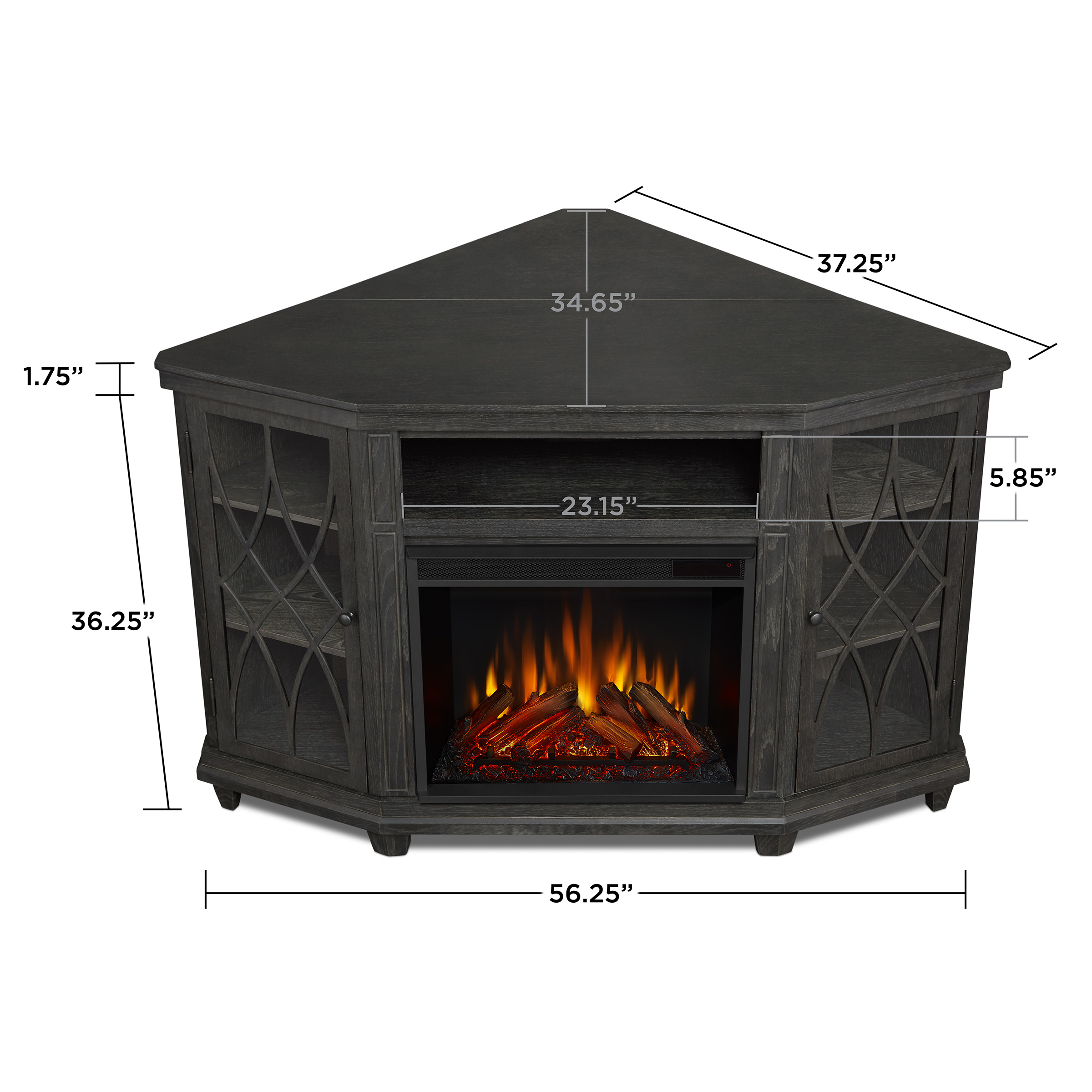 Gray Electric Fireplace Dimensions