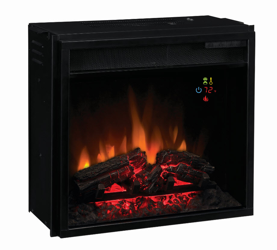 18 39 39 classic flame fixed front backlit electric fireplace