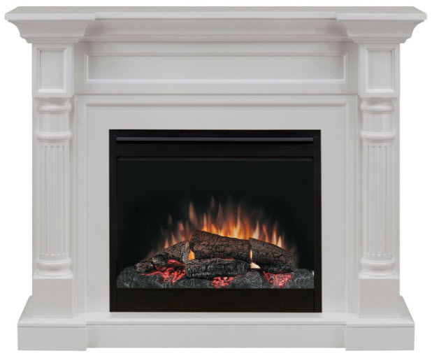 52 6 Dimplex Winston White Electric Fireplace