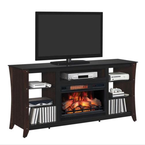 66 marlin engineered midnight cherry media mantel for Engineered fireplace
