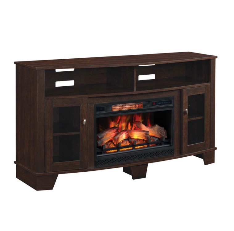 Media Console Electric Fireplace Cherry Fireplaces