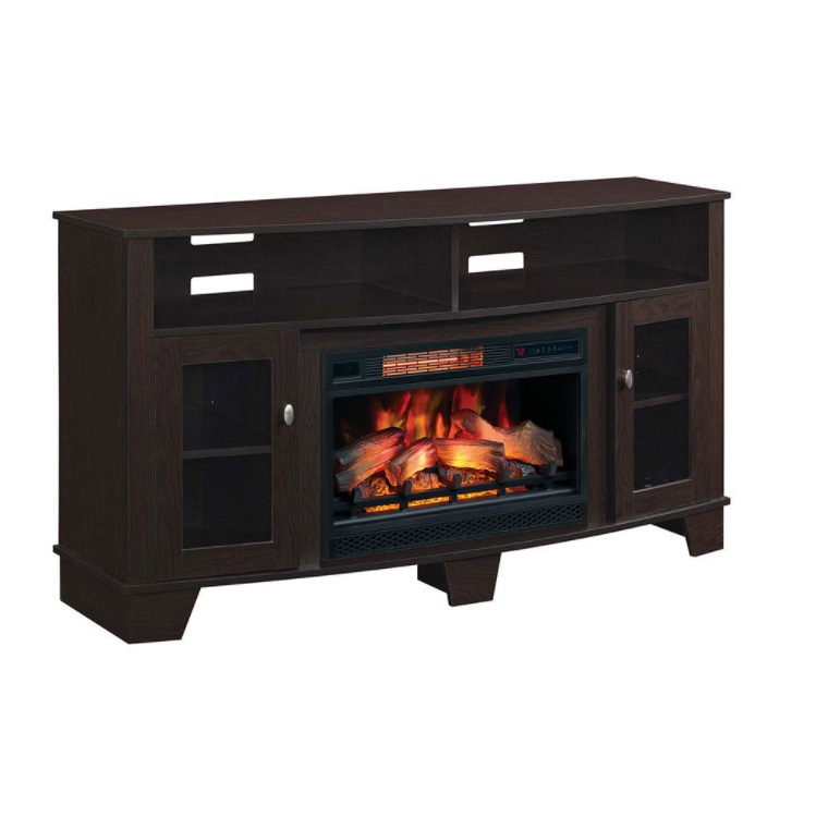 59 lasalle oak espresso electric fireplace media console 26mm4995 rh portablefireplace com 73 endzone espresso electric fireplace entertainment center bouganville espresso electric fireplace
