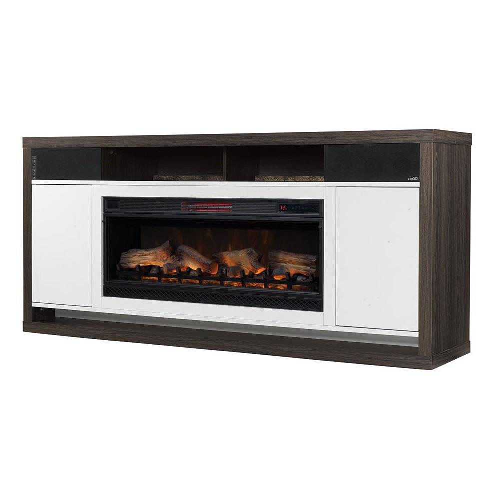bal black walnut infrared center harbour entertainment fireplace