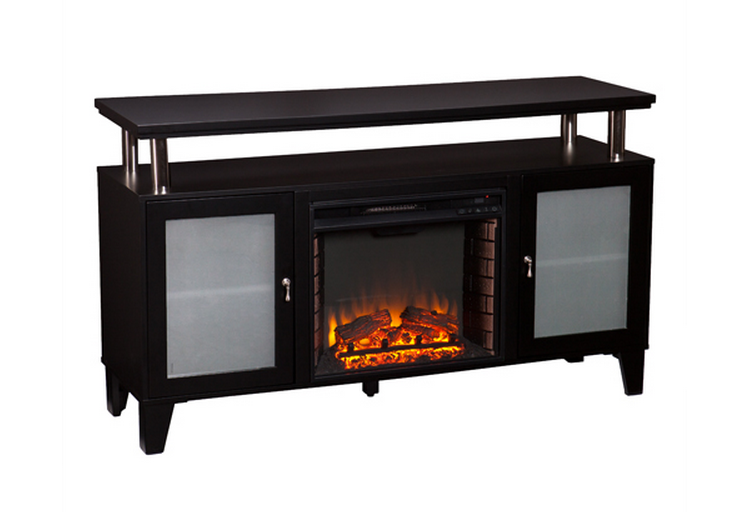 Cabrini Black Electric Media Fireplace FE FI - Style selections electric fireplace