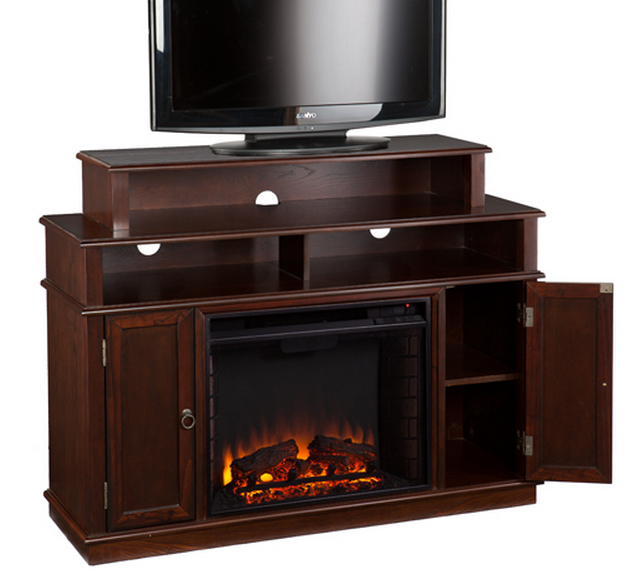 Lynden Espresso Electric Media Fireplace Fe9391 Fi9391