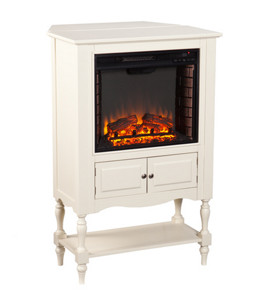 32 25 Quot Providence Antique White Electric Fireplace Tower