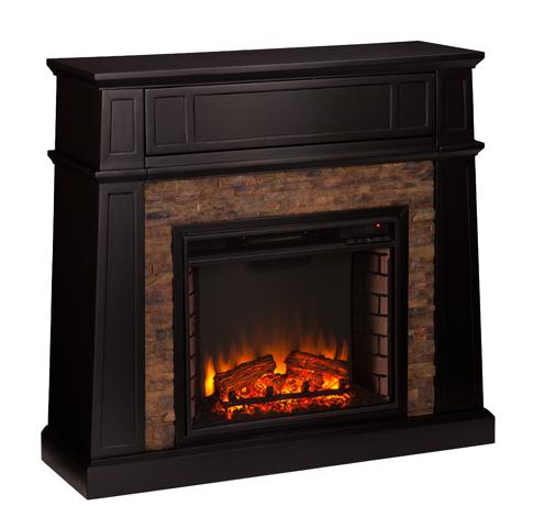 4425 Crestwick Faux Stone Electric Media Fireplace