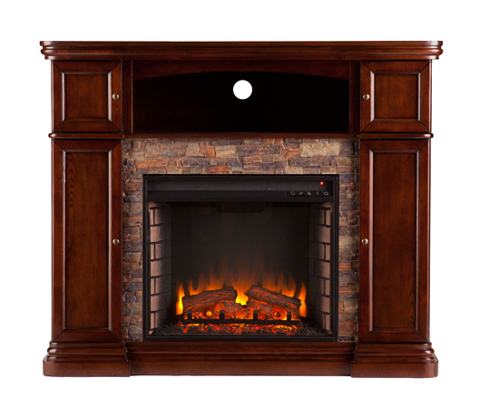 47 5 Quot Hillcrest Faux Stone Electric Media Fireplace