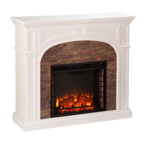 Tanaya Stacked Stone Effect Electric Fireplace