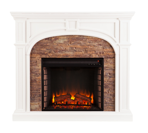 45 75 Quot Tanaya Stacked Stone Effect Electric Fireplace