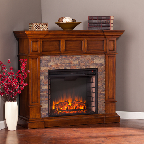 4575 Merrimack Simulated Stone Convertible Electric Fireplace