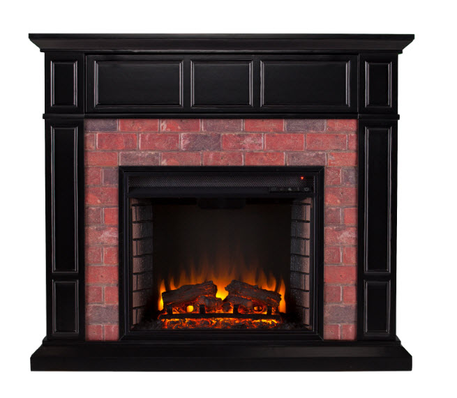45 50 Quot Kyledale Faux Brick Electric Media Fireplace
