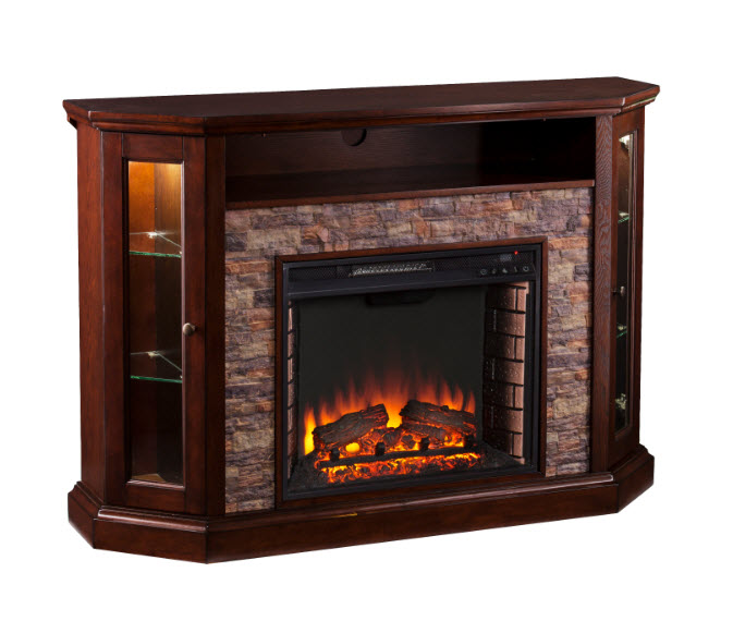 delaney 48 tv stand with fireplace  74819