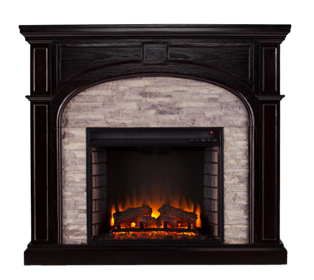 45 75 quot tanaya electric fireplace w gray stacked