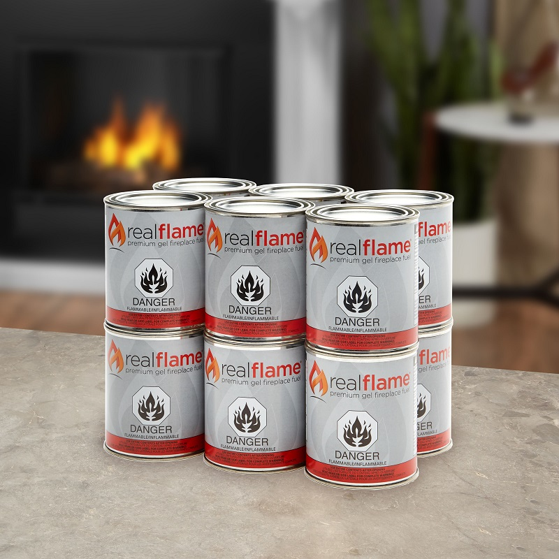 Real flame gel fuel 12pk 16pk 24pk for Gel alcohol fireplace