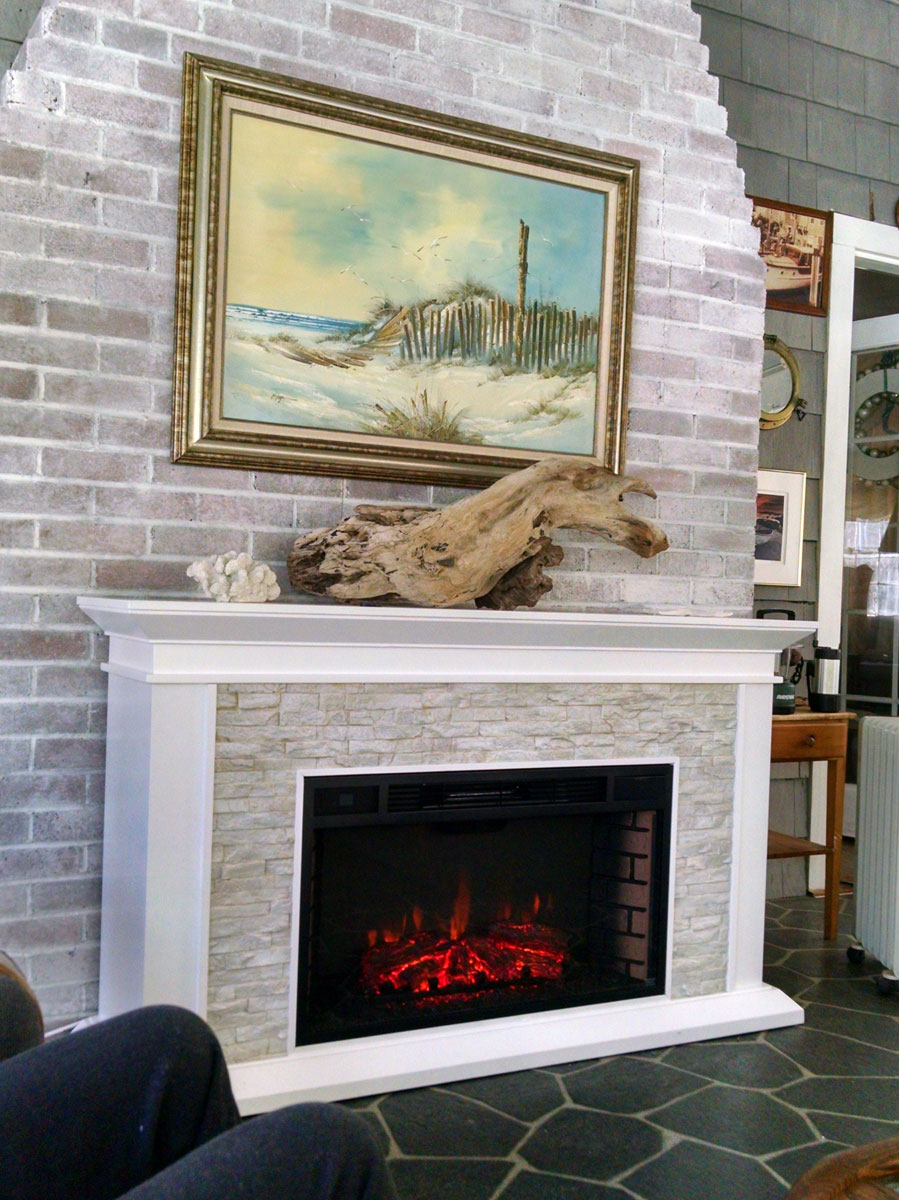 60 Quot Canyon Heights Simulated Stone Electric Fireplace