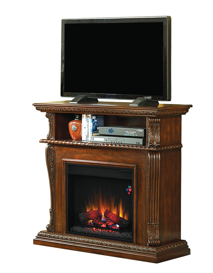 42 39 39 corinth burnished walnut entertainment center wall