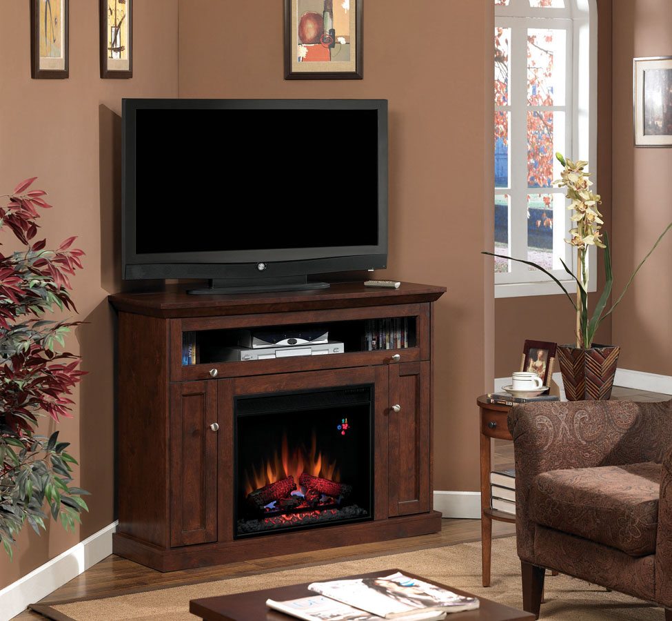 Living Room Stand: 46.25'' Windsor Antique Cherry Entertainment Center