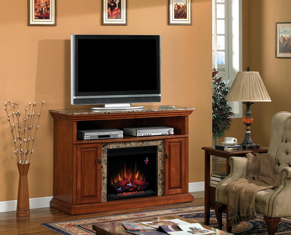 briteton golden honey marble center electric fireplace