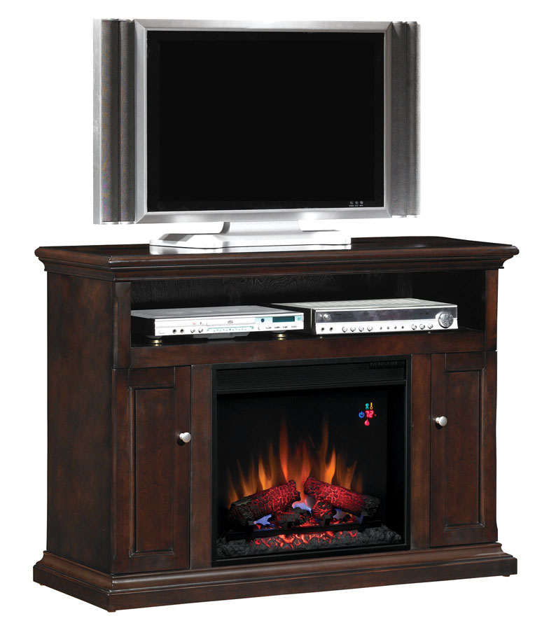 Cannes Espresso Entertainment Center Electric Fireplace 23mm378 E451