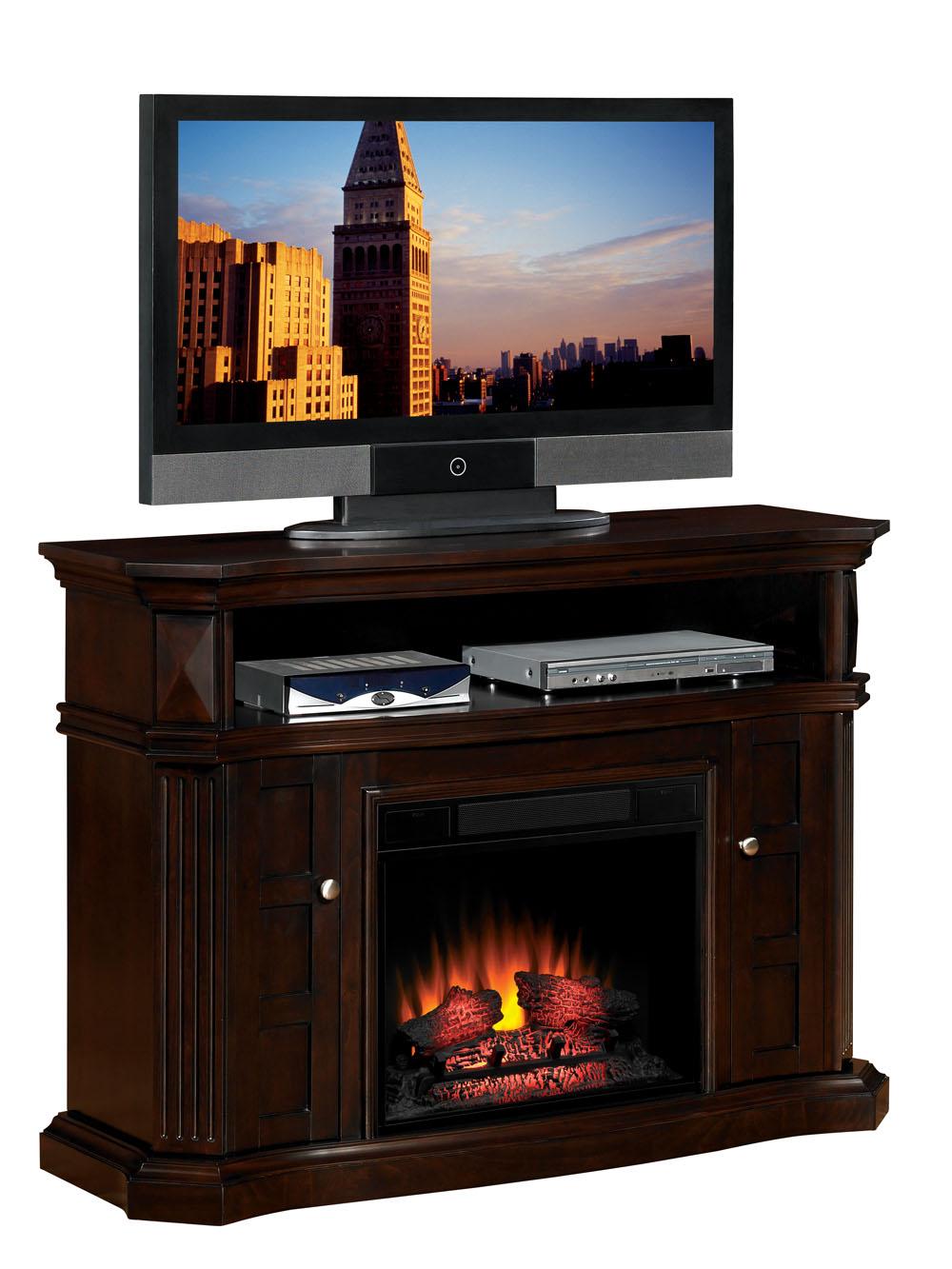 54 Bellemeade Espresso Electric Fireplace Media Console 23mm774 E451