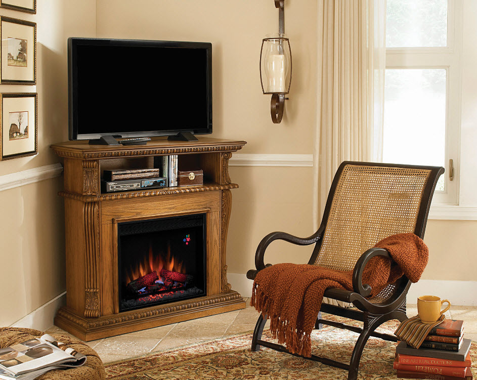 Corinth Oak Electric Fireplace